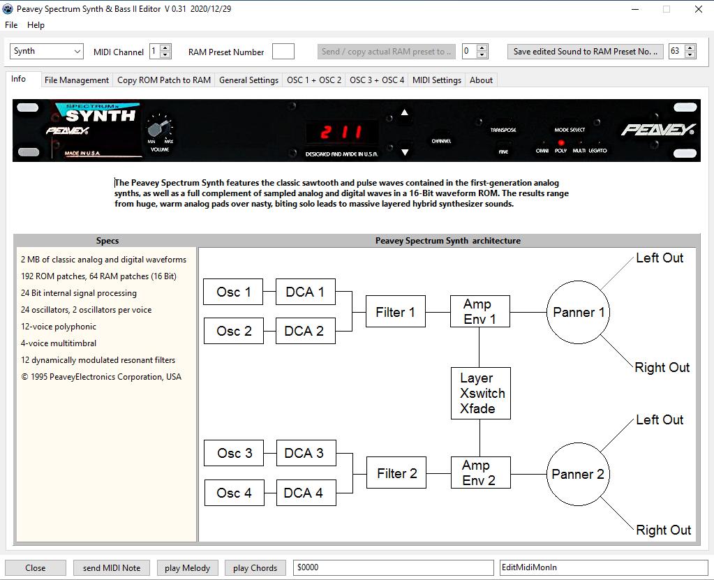 Peavey Spectrum Synth Raw Editor - Freeware Software